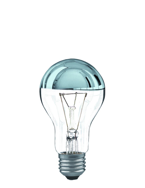 Paulmann Klasická žárovka 100W E27 stříbrná 30100