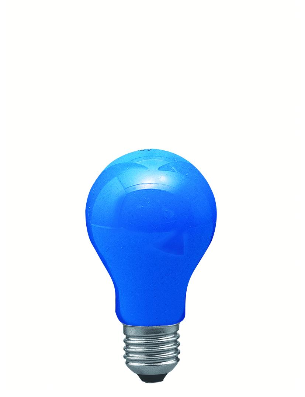 Paulmann Klasická žárovka 25W E27 modrá 40024