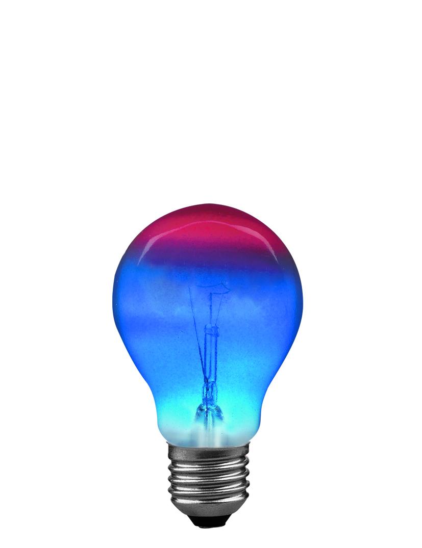 Paulmann Klasická žárovka 25W E27 červená/modrá 40039