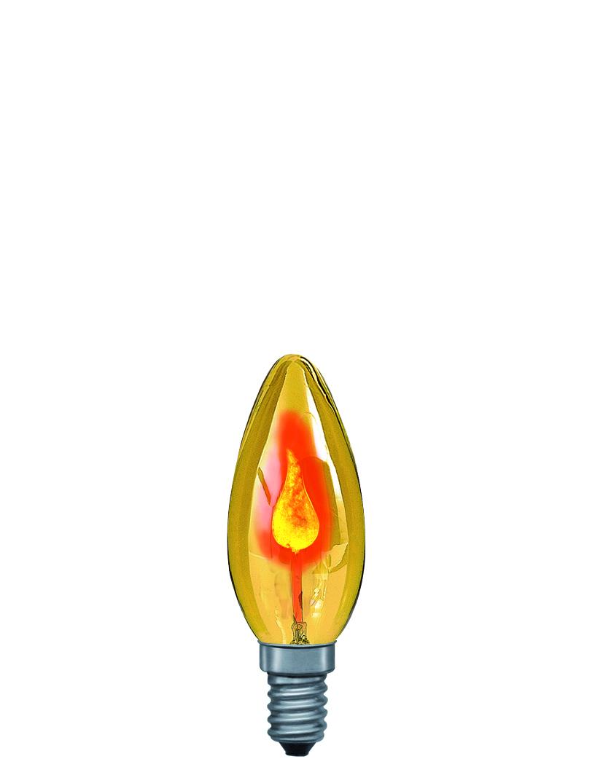 Paulmann Žárovka plamínek 3W E14 žlutá 53002
