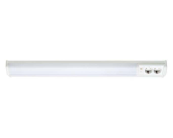 Paulmann Svítidlo pod skříňky WorX Plus 70393 – 755mm, 18W, bílé, vypínač, 2 zásuvky