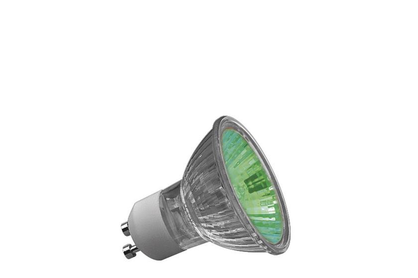 Paulmann Halogenová žárovka Truecolor 50W GU10 230V 51mm zelená 83647