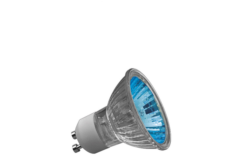 Paulmann Halogenová žárovka Truecolor 50W GU10 230V 51mm modrá 83648