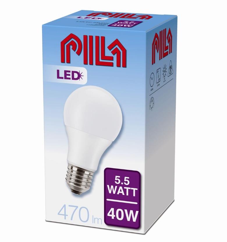 Philips LED žárovka PILA LED BULB 40W E27 827 A60 FR ND 8718696485361