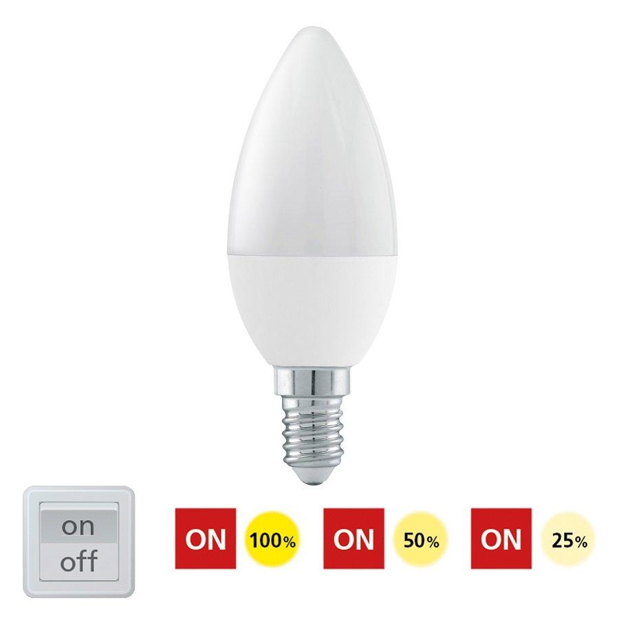 EGLO Stmívatelná LED žárovka E14 6W 11582 denní bílá