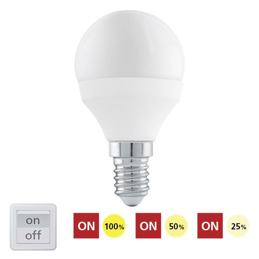 EGLO Stmívatelná LED žárovka E14 6W 11584 denní bílá