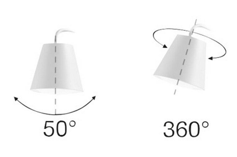 LineaLight Stolní lampa Conus LED 7285 – šedá