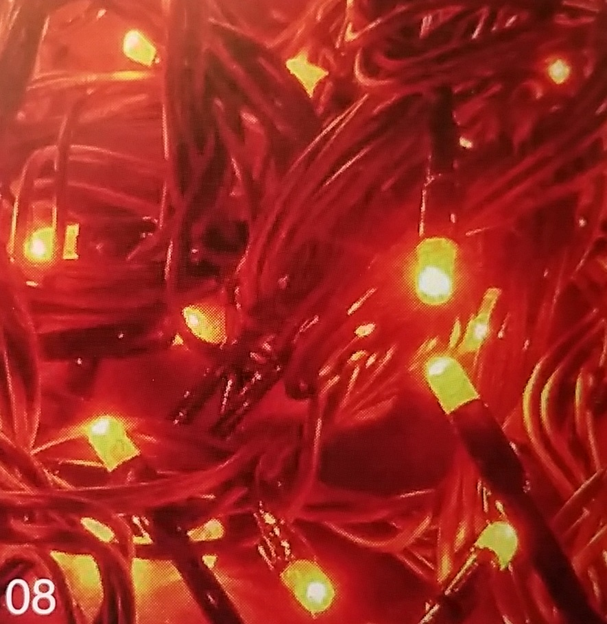 LCX-Chromex Profi LED světelný řetěz stálesvítící, oranžová, 200LED, 20m, prodloužitelný SR-059220