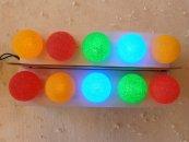 Barevné LED kuličky na baterie