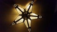 Papírová LED hvězda 43100 stříbrná
