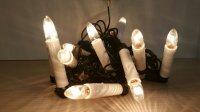 Světelný řetěz s 10 svíčkami na klipu 49151