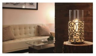 Stolní lampička Vintage 49274 v bílohnědé patině