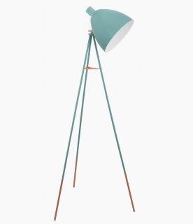 Stojací lampa Vintage 49342 pastelově modrá 1,4m