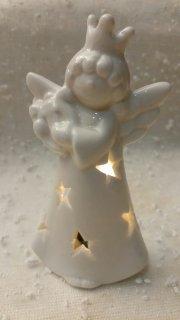 Porcelánová figurka anděl LED 13cm
