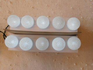 Bílé LED kuličky na baterie 40411
