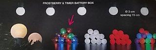 Světelný řetěz na baterie – barevné kuličky