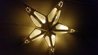 Papírová LED hvězda 43101 bílá