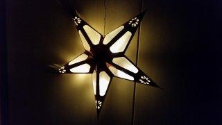 Papírová LED hvězda 43105 červená