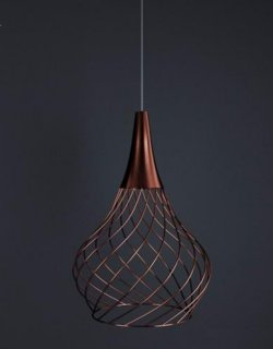 Italské LED světlo LineaLight 8141 Mongolfier P1 rose gold