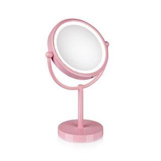 MAKE-UP stolní zrcadlo růžové