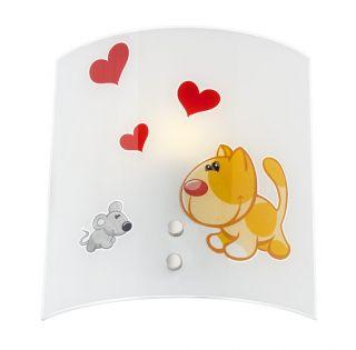 Dětské nástěnné svítidlo PUPPY LOVE 04-359