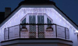 Světelné LED rampouchy Icicle 24V efektové, 180LED, denní bílá, 5m