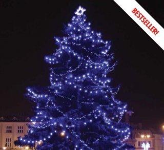 Profi LED světelný řetěz stálesvítící, modrá, 200LED, 20m, prodloužitelný