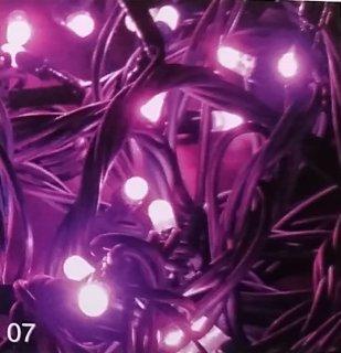 Profi LED světelný řetěz stálesvítící, růžová, 200LED, 20m, prodloužitelný