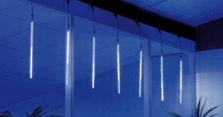 LED světelný závěs, imitace padajícího sněhu, čirá