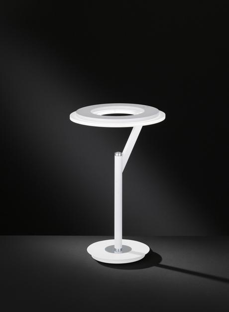 Stolní lampa CLARC 1x LED 20 W bílá/chrom